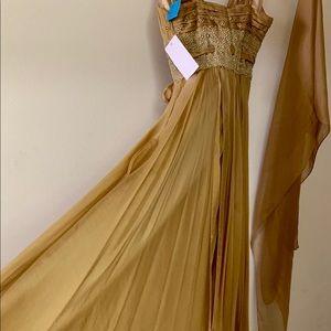 Alberto makali Silk gown NWT